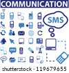 communication signs, icons set, vector - stock vector
