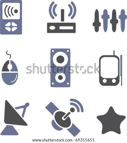 communication signs set # 2. vector - stock vector