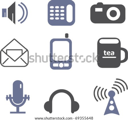 communication signs. vector - stock vector