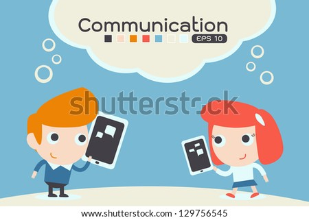 communication, vector - stock vector