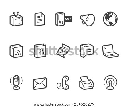 Communication vector icons. File format is EPS8. - stock vector