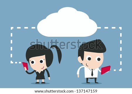 communication - wireless technology vector - stock vector