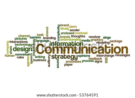 Communication - Word Cloud - stock vector