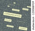 COMMUNICATION. Word collage. Vector illustration. - stock