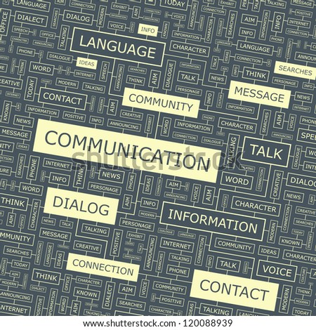 COMMUNICATION. Word collage. Vector illustration.
