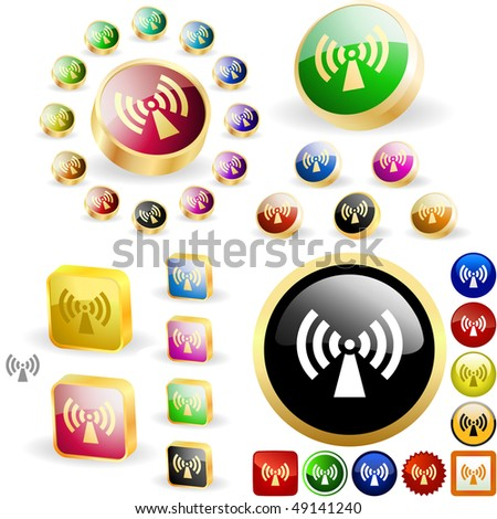 Communications button set. Vector great collection. - stock vector