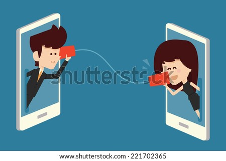 communications concept flat design - stock vector