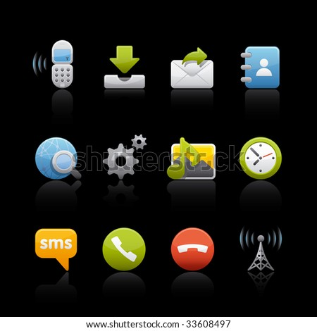 Communications Set for multiple applications - stock vector