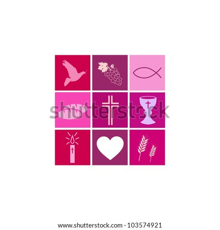 Communion Girl - stock vector