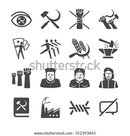 Communism icons - stock vector