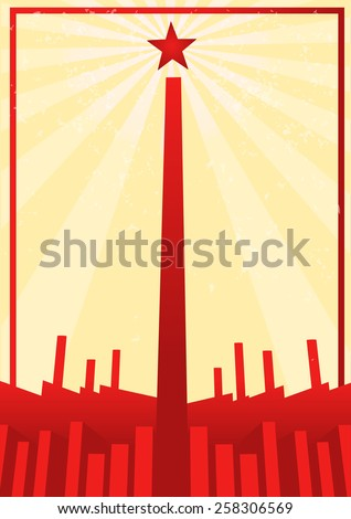 communist propaganda poster with modern design - stock vector