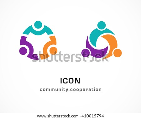Community cooperation circular abstract people icons stock vector community cooperation circular abstract people icons sciox Gallery