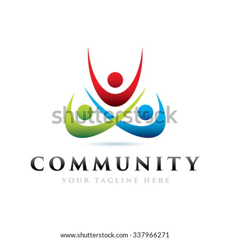 Community Icon Logo Elements