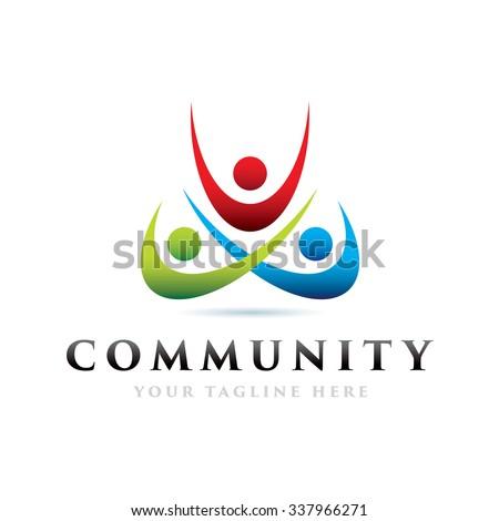 Community Icon Logo Elements - stock vector