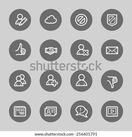 Community. Social media icons set - stock vector