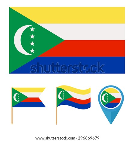 Comoros,icons for design with reference to a particular country. flag from the same series