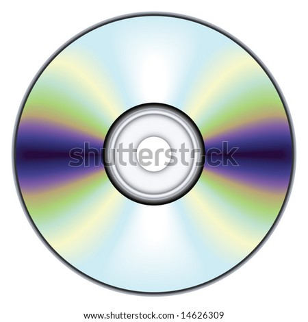 Compact disc - blend and gradient only - stock vector