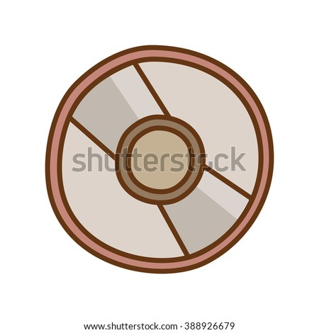 Compact Disc Doodle Icon - stock vector