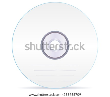 Compact disc - Vector drawing isolated on white background