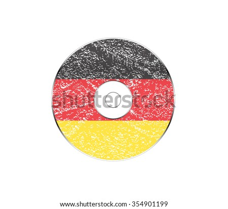 Compact disc with Germany flag, Vector illustration - stock vector