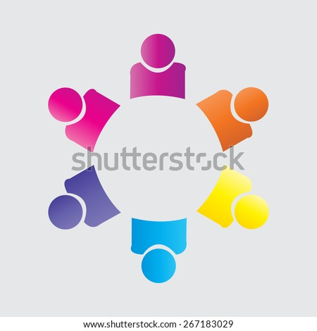 companionship, employees unity, workers union, executives meeting, friendship, team work & team spirit and friendship vector.  - stock vector