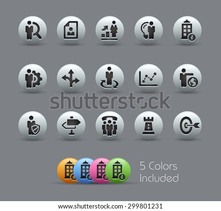 Company and Business Strategies // Pearly Series ----- The Vector file includes 5 color versions for each icon in different layers ----- - stock vector