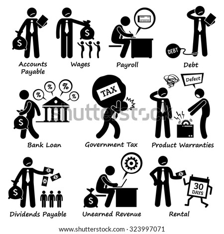 Company Business Liability Pictogram - stock vector