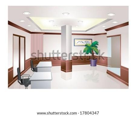 Company Interior - stock vector