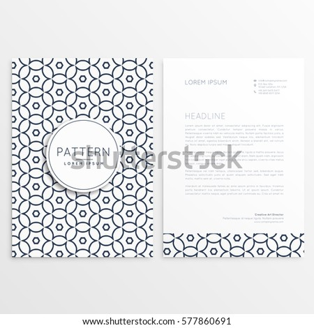 Company letterhead design simple style pattern stock photo photo company letterhead design in simple style and pattern shape spiritdancerdesigns Image collections