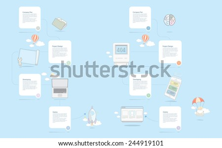 Company timeline template - stock vector