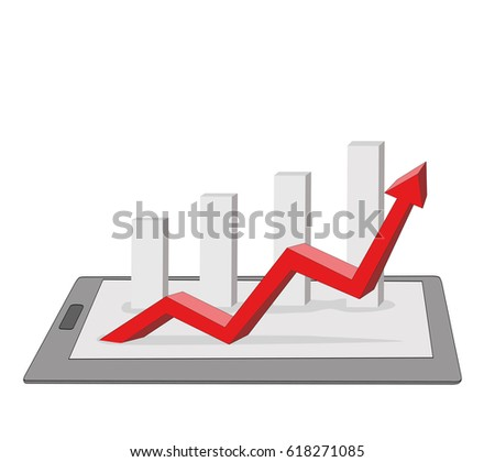 Comparing statistics in business, info-graphics report charts. vector illustration.