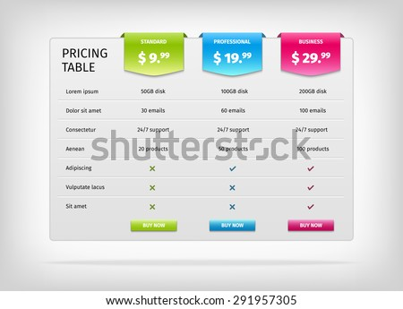 Comparison Chart Stock Images, Royalty-Free Images & Vectors