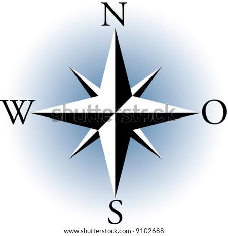Compass. A vector illustration. - stock vector