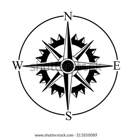 Compass digital design, vector illustration eps 10