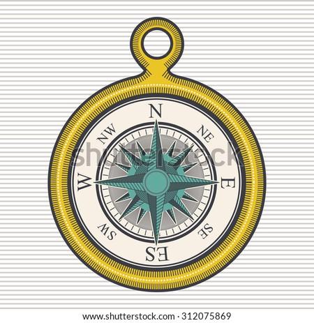 Compass digital design, vector illustration eps 10 - stock vector