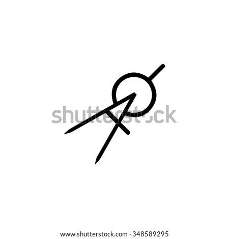 Compass divider geometry icon - stock vector