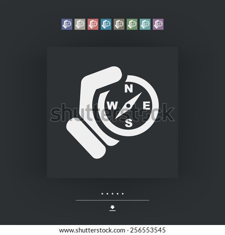 Compass hold icon - stock vector