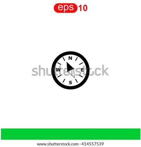 Compass icon. Compass icon vector. Compass icon illustration. Compass icon web. Compass icon Eps10. Compass icon image. Compass icon logo. Compass icon sign. Compass icon art. Compass icon flat. - stock vector