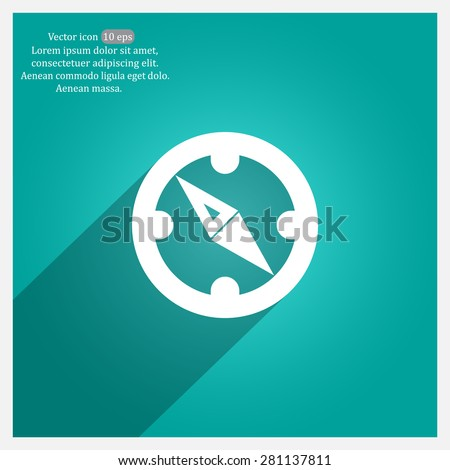 Compass Icon in the flat style. vector - stock vector