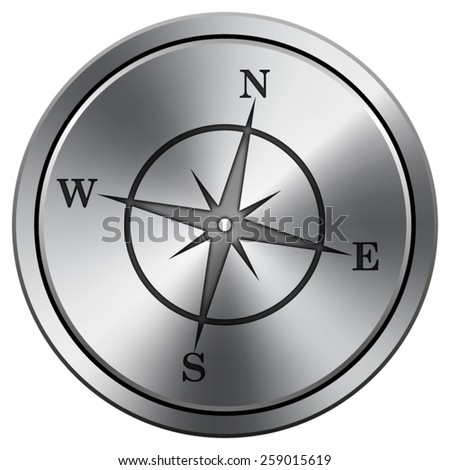 Compass icon. Internet button on white background. EPS10 Vector.