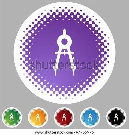 Compass icon isolated on a white background. - stock vector
