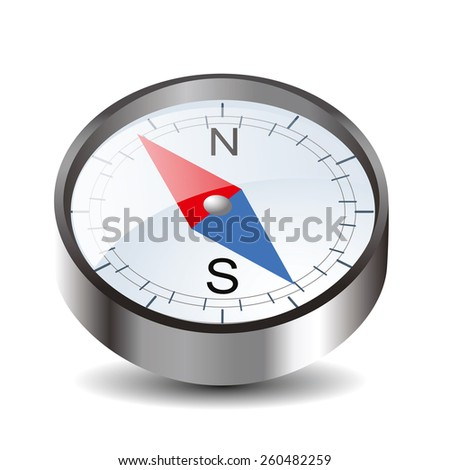 Compass icon isolated on white background - stock vector
