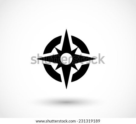 Compass icon vector  - stock vector