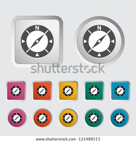 Compass icon. Vector illustration. - stock vector