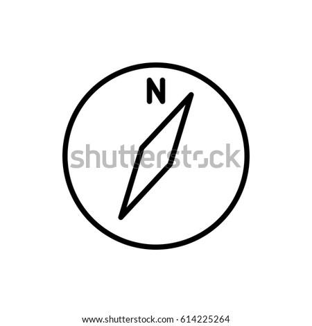 Compass Icon Vector Illustration Linear Symbol Stock Vector
