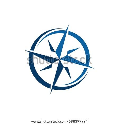 compass logo template stock vector royalty free 598399994