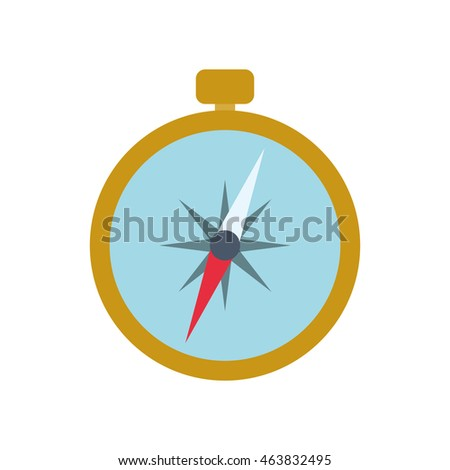 compass navigation instrument antique icon. Isolated and flat illustration. Vector graphic