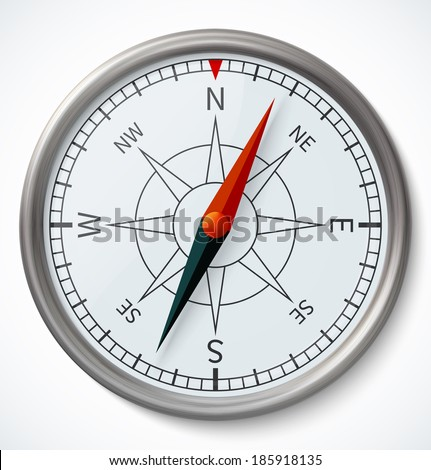 Compass on a white background. Vector illustration - stock vector