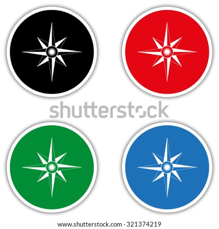 compass rose - stock vector