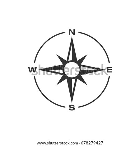 compass rose icon logo template stock vector 678279427 shutterstock